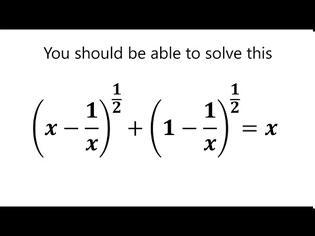 Φωτογραφία για Μια ωραία εξίσωση με μια υπέροχη λύση